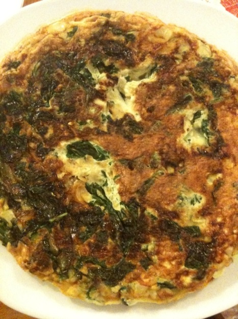 The finished Frittata - before cheese